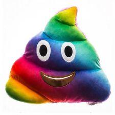 EMOJI Rainbow Poo Pillow 32cm New