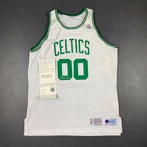 100% Authentic Robert Parish Champion 92 93 Celtics Autographed Pro Cut Jersey