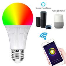 E27 WiFi Smart LED Light Bulb Globe For Alexa Google Home RGB Colour