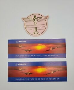 Vintage BOEING Advertisement Stickers ~ Name Tag & Building the Future!