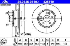 Bremsscheibe (2 Stück) - ATE 24.0125-0110.1