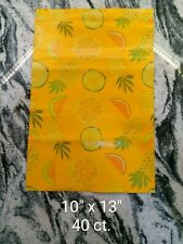 Poly Mailers Shipping Envelopes Bags 40 count 10x13 Pineapple Orange