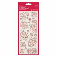 Docraft Papermania Glitter Dot Stickers -Christmas Flowers for cards and crafts
