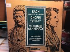 BACH: CONCERTO in D MINOR ; CHOPIN: Concerto No.2 in F Minor  VLADIMIR ASHKENAZY