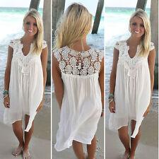 Minikleid Strand Kleid Negligee Nachthemd Spitze Tunika Tuniken NEU 34-50 BC345