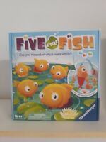 Five Little Fish Game  5 Fish With Different Color Tails! Brand New.