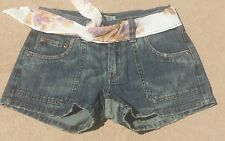 Awesome NEW pair of Abercrombie & Fitch denim jean Shorts size 8 NWT w/sash belt