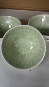 4 Vietri Viva Lace Pistachio Cream Green Cereal /Soup / All Purpose BOWLS Round