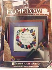 The Hometown Collection 5311 Pansies Counted Cross Stitch Kit NEW Free S/H