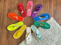 Premium Slippers Calfskin New 100% Leather House Cow Flip Flop Sandals Moccasin