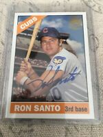2003 Topps Archives Ron Santo On Card Autograph Issue Chicago Cubs HOF