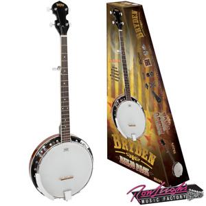 Bryden SBJ1PK 5 String Banjo Pack with Bag, Strap, Tuner, Strings and Picks