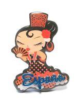 Flamenco Dancer Red 9 CM Photo Magnet Epoxy Spain Espana Souvenir