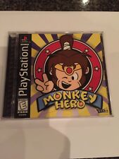 Sony Playstation 1 Monkey Hero Game Manual And Case Good Condition