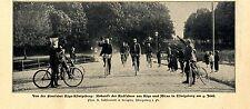 Fernfahrt Riga- Königsberg * Ankunft der Radfahrer aus Riga und Mitau Bildd.1902