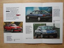 FORD SPECIAL EDITIONS 1992 UK Mkt Brochure - Fiesta Escort Orion Sierra Chasseur