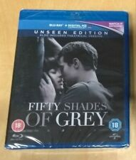 NEW Fifty Shades of Grey Blu Ray Unseen Edition Film + UV / E.L. James 50 Erotic