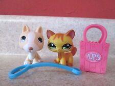 LPS Littlest Pet Shop #1137 Cat Yellow Orange Walking #860 Bull Terrier Dog Tan