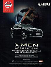 Publicité Advertising 011  2016   Nissan  X-MEN Apocalypse x-trail