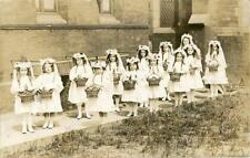 REAL PHOTO PC ST JOSEPH'S CONVENT CHILDREN IN HUNSLET CARNIVAL? LEEDS WEST YORKS