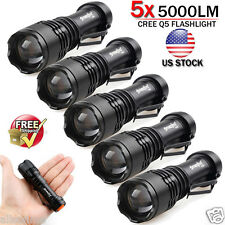 6pcs Lot 5000LM CREE Q5 LED AA/14500 ZOOMABLE Tactical Flashlight Torch Lamp Set