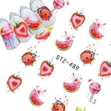 Nail Art Water Decals Transfers Stickers Strawberries Lollipops Holidays (489)