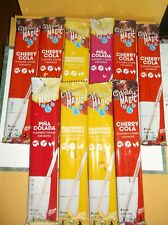 Water Magic Flavored Straws for Water~ Assorted Flavors ~10 Packs~40 Straws~