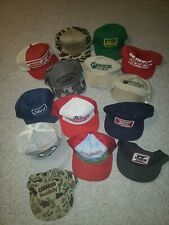 Vintage Lot 14 Snapback Patch Hat Trucker Mesh K Products Ford Farming Grain USA