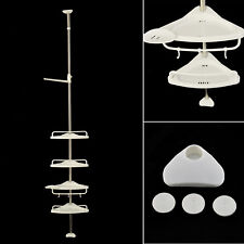 4 Tier Telescopic Bathroom Corner Shelf Rack Shower Caddy Storage Bath Accessory
