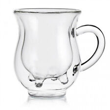 Double Wall Cow Milk Cup Pyrex Glass Coffee Tea Mugs Beverage Wine Beer Bar Home