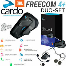 Cardo auriculares Freecom 4+ plus doble Bike-to-Bike 4-vías Interkom 1,2 km radio