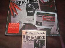 JETHRO TULL THICK AS A BRICK JAPAN REPLICA ORIGINAL 2001 ISSUE CD + VINYL BOXSET