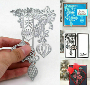 Christmas Holly Bauble Metal Cutting Dies Stencil Scrapbooking Embossing Craft