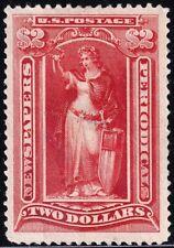 US STAMP BOB #PR108 $2 1895 Newspaper Periodicals Stamp unused $850 CENTER TEAR