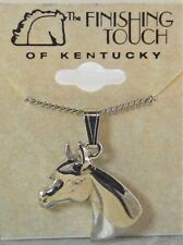New Silver Tone Arabian Horse Head Necklace