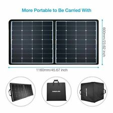 US Seller Photoadd 100W DC5V 12V Foldable Flexible Mono Solar Panel Green Energy