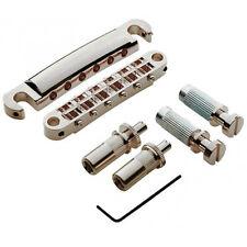 NEW Tone Pros LPNM02-N Locking BRIDGE+ TAILPIECE for Gibson TuneOMatic Nickel