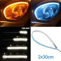 2xSequential LED Strip Turn Signal Switchback Indicator Daytime Running Lights