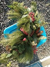 Pine Cone Needles Red Berry 30 In Garland Green Red
