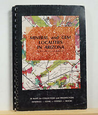 Mineral and Gem Localities in Arizona 1977 Hammons 30 Maps Prospecting Mining
