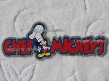 DISNEY CHEF MICKEY'S Dining Die Cut Title Scrapbook Page Paper Piece - SSFFDeb