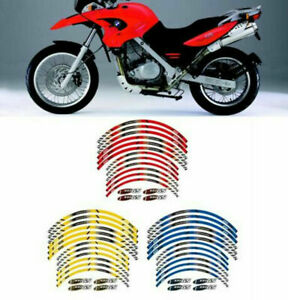 For BMW F650GS Cool Wheel Stickers Stripes Motorcycle Stereo Rubber Rim Pasters
