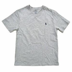 Polo Ralph Lauren Boys T-Shirt Short Sleeve V-Neck Kids Casual Top New Nwt Prl