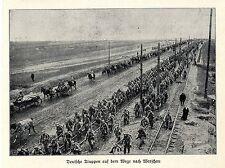 1915 Russisch-Polen * Deutsche Truppen auf dem Vormarsch nach Warschau * WW1