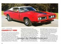 1971 Dodge Charger R/T RT Hemi - Original Car Print Article J264