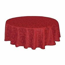 lenox holly damask tablecloth 60 by 84 inch oval red