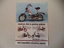 advertising Pubblicità 1980 MOTRON SA/SV3 R/RA - G1/GL4 GL 4