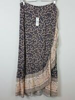 SPORTSGIRL | Womens Floral Print Wrap Skirt NEW + TAGS [ Size AU 14 or US 10 ]