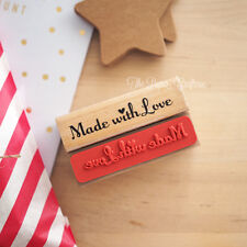 MADE WITH LOVE STAMP Wooden Rubber Wedding Favours DIY Craft Handmade Gifts