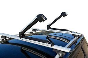 Alloy Roof Rack Ski Snow Board Carrier Holder Lockable Carrying Width 39cm